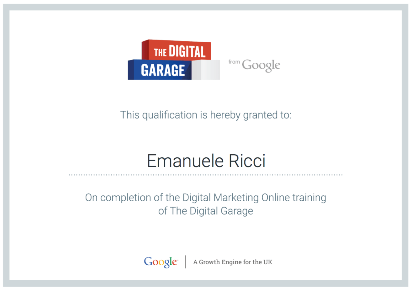 Digital Martketing Certificate