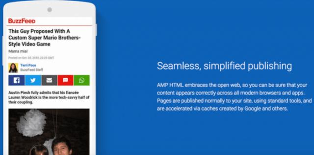 AMP Accelerated Mobile Pages, nuove pagine superveloci per progetti editoriali sul web.