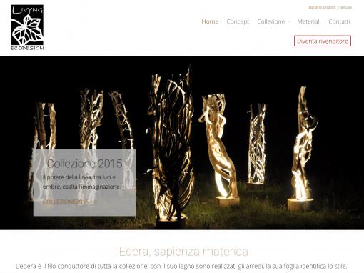 Livyng Ecodesign – sito web multilingua