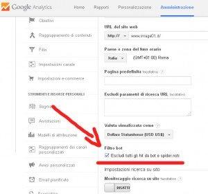 Escludi semalt da Google Analytics