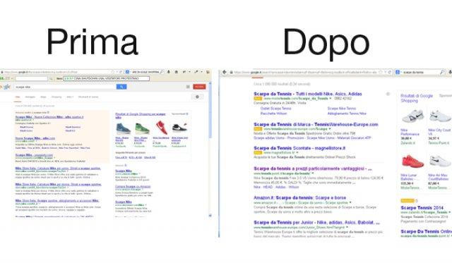 Cambio di Layout della SERP di Google