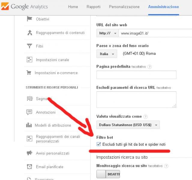 Eliminare semalt dalle statistiche di Google Analytics