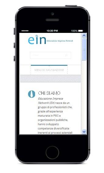 Sito business su smartphone