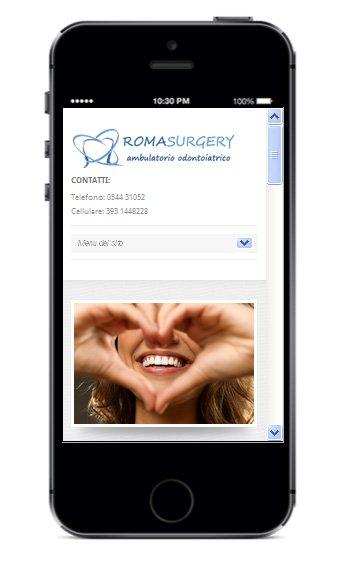 Sito smartphone Dentista