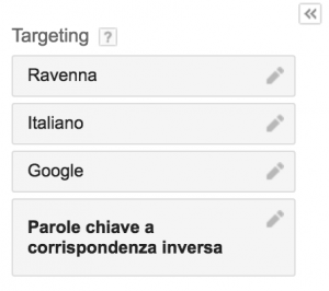Targeting località Adwords