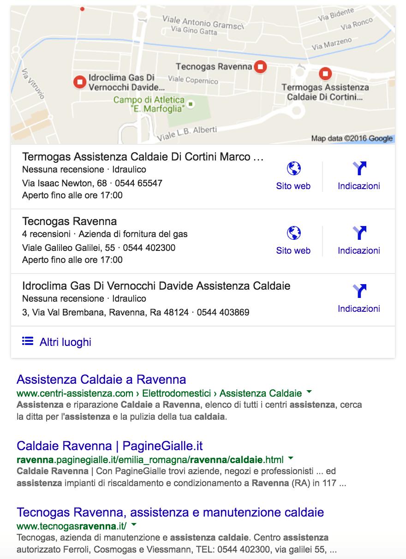 posizionamento locale Tecnogas