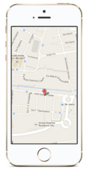 Smartphone cerca indirizzo