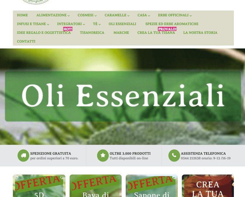 ecommerce Magento – Erboristeria Giorgioni