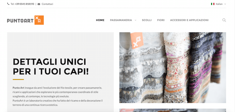Catalogo on-line – Responsive Design – Multilingua